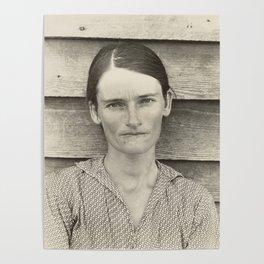 Allie Mae Burroughs by Walker Evans Poster