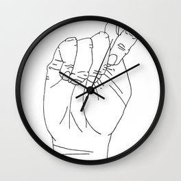 Sign Language T Wall Clock