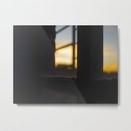 Sunset by the Window Metal Print