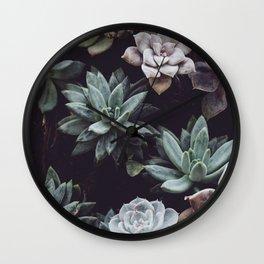Succulent Garden Wall Clock