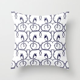 Love Birds Pattern Throw Pillow