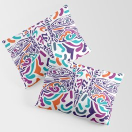 Colorful Fly Pillow Sham