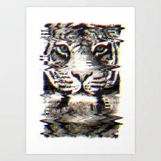 Tiger Glitch Art Print