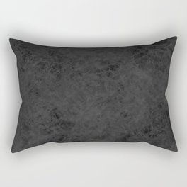 Black suede Rectangular Pillow
