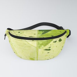Leaf with abstract patterns 2 Fanny Pack