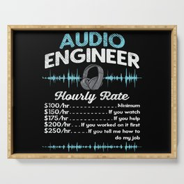 Audio Engineer Hourly Rate Motif Serving Tray