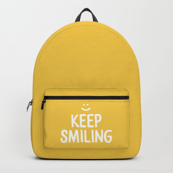 Keep Smiling Quote - Yellow by blueskywhimsy