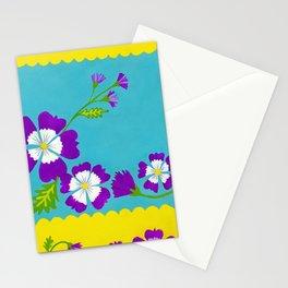 Summer Folk Flowers Stationery Cards
