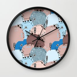 Four wheels blue #homedecor Wall Clock