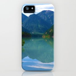 Morning Reflections on Kinney Lake in Mount Robson Provincial Park, British Columbia iPhone Case