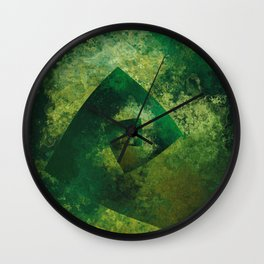 The Endless Green Wall Clock