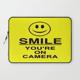 Smile You're On Camera Laptop Sleeve