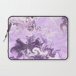 Abstract modern lavender burgundy watercolor marble pattern Laptop Sleeve