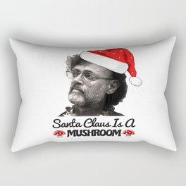 Terence Mckenna Santa Claus Mushroom Rectangular Pillow