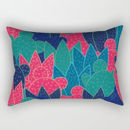 Cactus field at night Rectangular Pillow