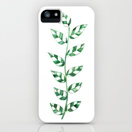 Lace Leaves (Dark Green) iPhone Case