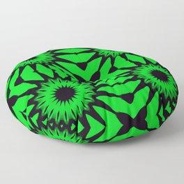 Green & Black Pinwheel Flowers Floor Pillow