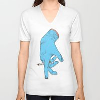 the thing V-neck T-shirts featuring Thing by DRVEGER