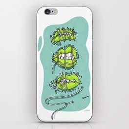 ICANT KEEP QUIET. Feminist poster iPhone Skin