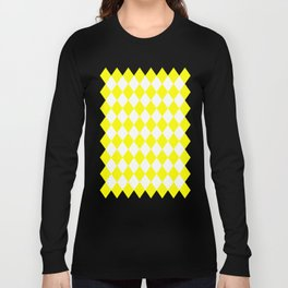 Diamonds (Yellow/White) Long Sleeve T-shirt