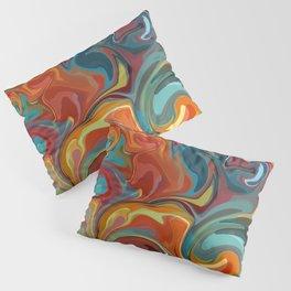 Marbled Swirl Rainbow Pillow Sham