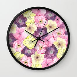 The Hellebores Wall Clock