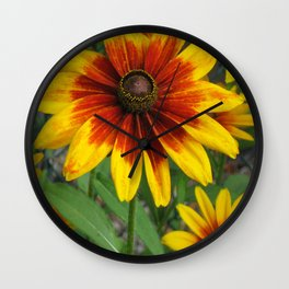 Flower | Flowers | Yellow Gaillardia Daisy | Nature Photography Wall Clock