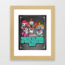 Killer Klowns Framed Art Print