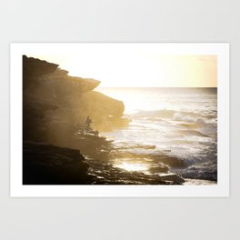Looking for a wave Art Print