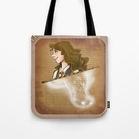 hermione Tote Bags featuring Hermione Granger by Imaginative Ink