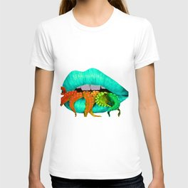 Blue Octo Lips T-shirt