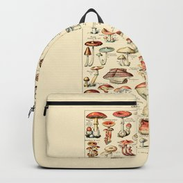 Trippy Vintage Mushroom Chart // Champignons by Adolphe Millot 19th Century Science Artwork Backpack