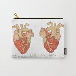 My Heart Likes Your Heart Carry-All Pouch