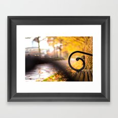 Another Bench in the Park Framed Art Print