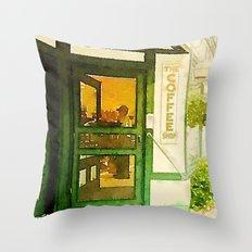 The Coffee Shop Throw Pillow