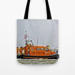 Hoylake Lifeboat (Digital Art) Tote Bag