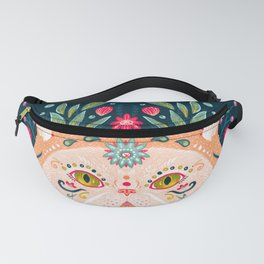 Candied Sugar Skull Kitty Fanny Pack