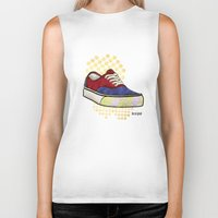 vans Biker Tanks featuring Man I Need Vans - Classic Sneaker Icon by Dave Conrey