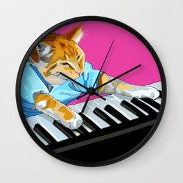 Piano Cat Meme Wall Clock