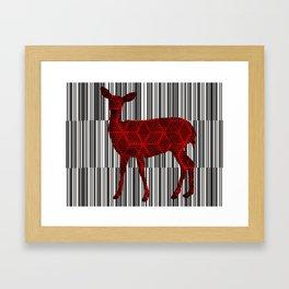 Deer Skin Framed Art Print
