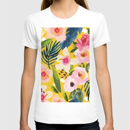 No Winter Lasts Forever; No Spring Skips It's Turn #painting #botanical T-shirt