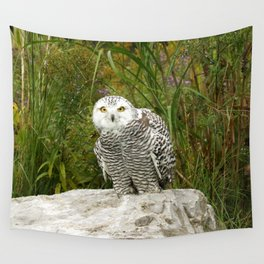 Curious Snowy Owl Wall Tapestry