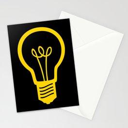 Yellow Lightbulb Stationery Cards