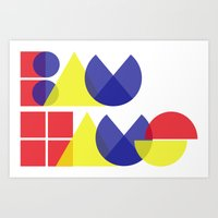 bauhaus Art Prints featuring Bauhaus by Romivavi