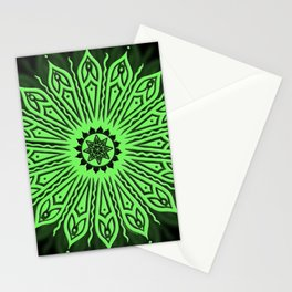 ozorahmi glow mandala Stationery Cards