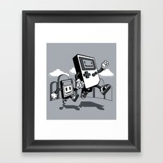 Handheld Mono Framed Art Print