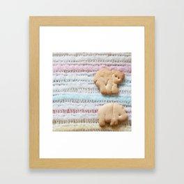 Animal Crackers - rainbow Framed Art Print
