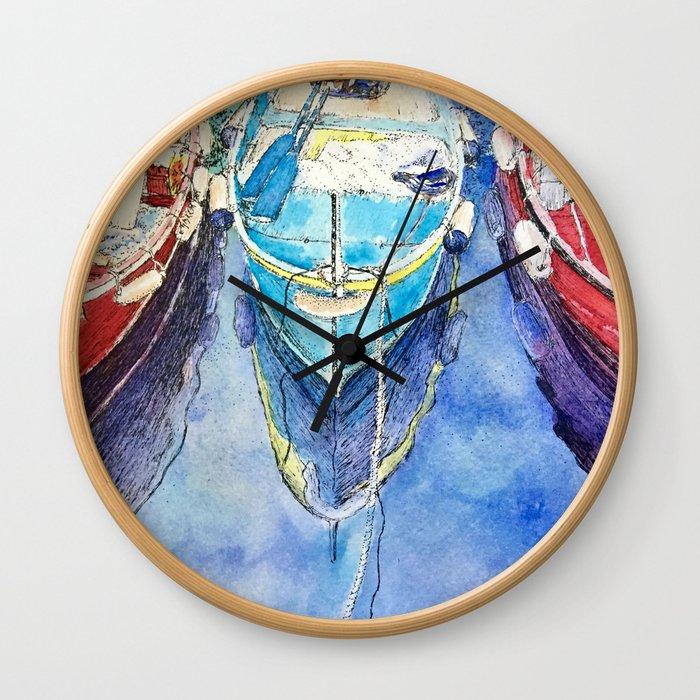 Boats of Italy Wall Clock