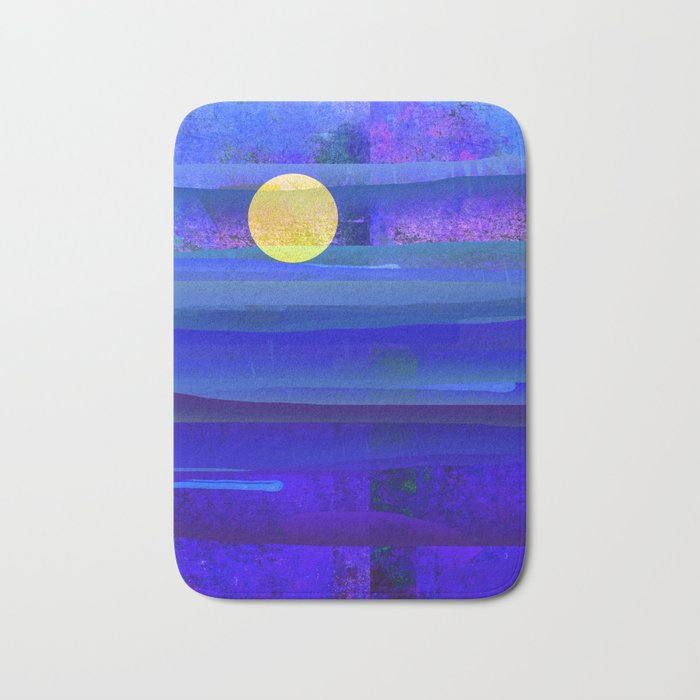 Yellow Moon Bath Mat