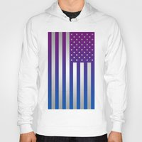 american flag Hoodies featuring American Flag by Tiede van der Steege